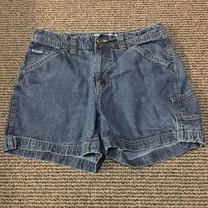 Women's Columbia Blue Jean Shorts Size 6